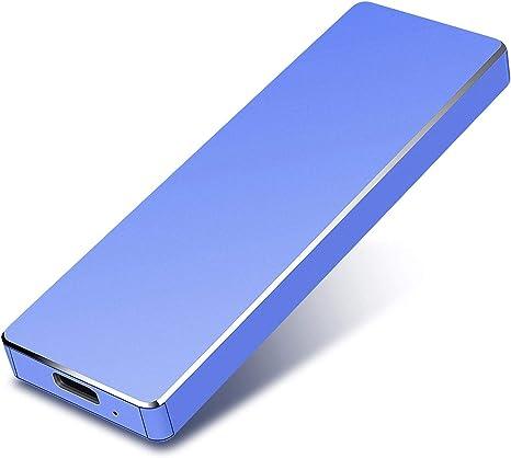 Externe Festplatte 1TB 2TB Tragbare Festplatte Slim Externe Festplatte Kompatibel mit PC Laptop Mac Schwarz  1 TB Desktop