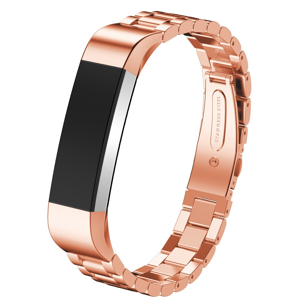 Pumsun ⭐️ Stainless Steel Watch Band Wrist Strap for Fitbit Alta Smart Watch (Rose Gold)