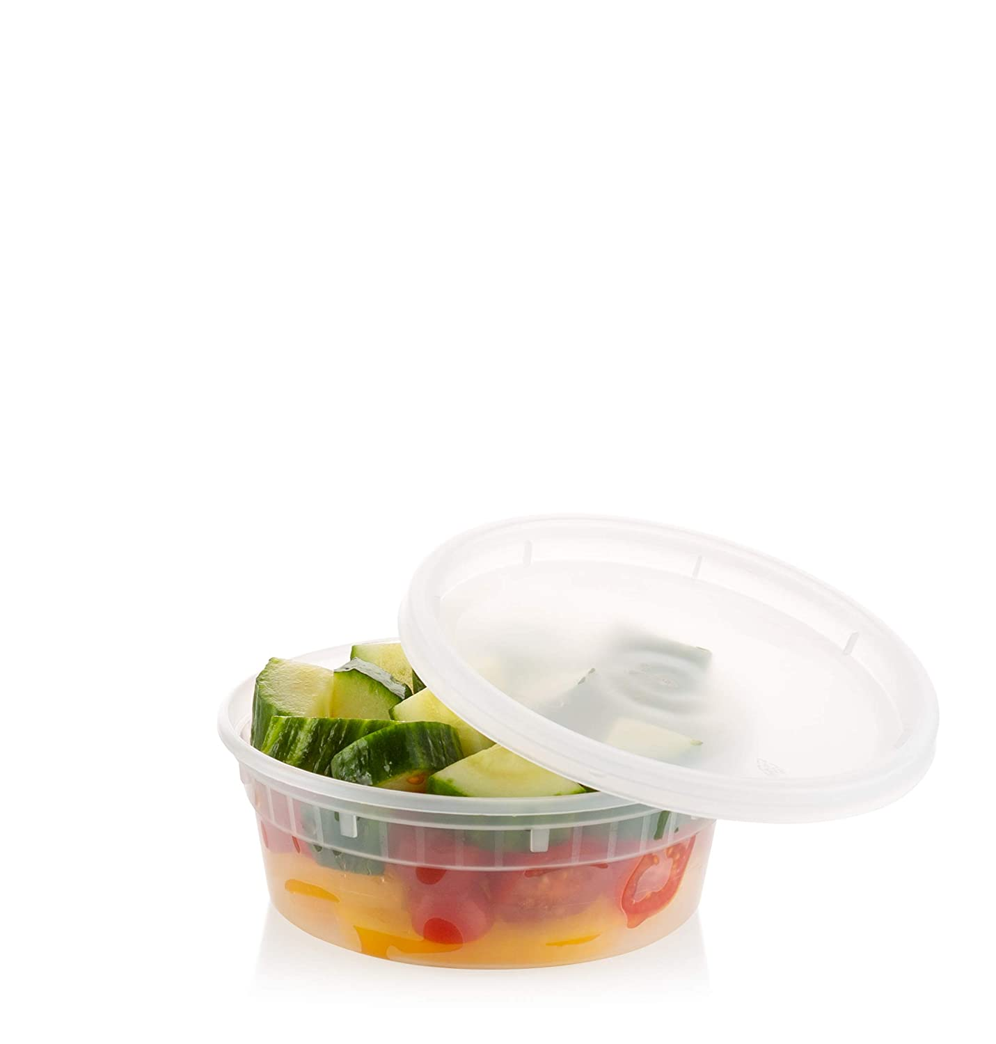 ZEML 8 oz. Deli Food Storage Containers With Leak-proof Lids - 24 Sets