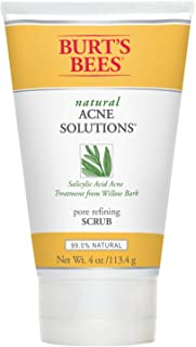 product image for Burt's Bees Natural Acne Solutions Pore Refining Cleansing Scrub, Exfoliating Face Wash for Oily Skin, 4 Oz (Package May Vary)