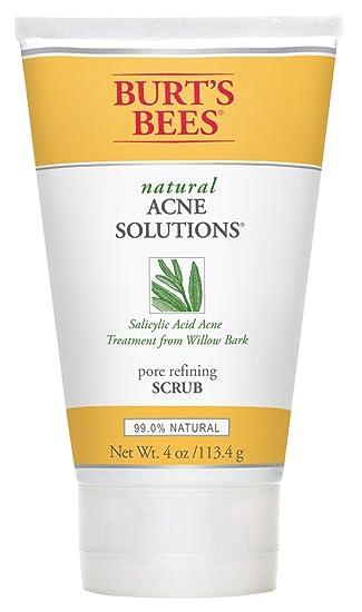 Amazon Com Burt S Bees Natural Acne Solutions Pore Refining Scrub