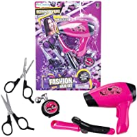ArtCreativity Hair Stylist Set for Girls, Beauty Salon Pretend Play Kit with Toy Hair Dryer, Curling Iron, Perfume, and…