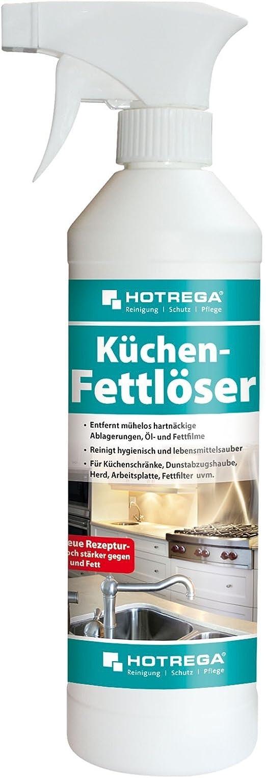 HOTREGA Küchen Fettlöser mühelos Öl und Fett Flecken entfernen  Küchenreiniger Küchen Entfetter 500ml