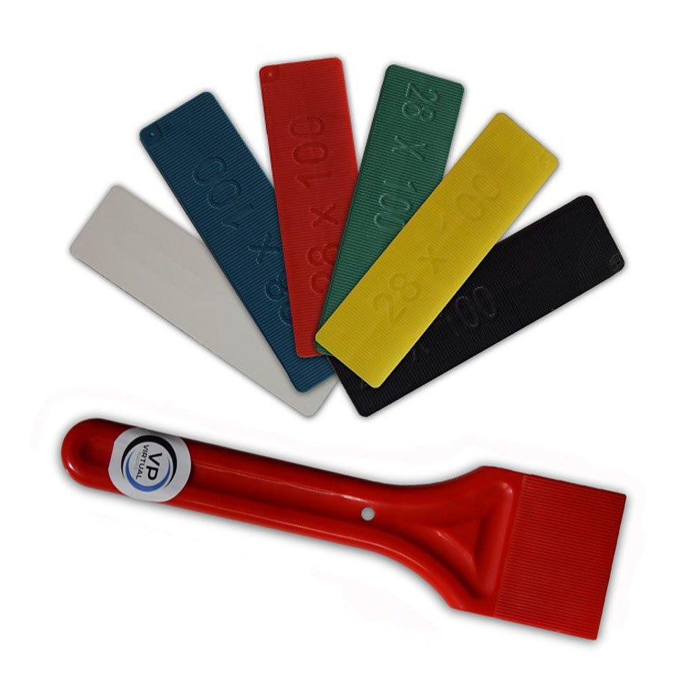 28 mm Verglasungsdistanzst/ücke//Abstandhalter f/ür Fenster und Verglasungs-Paddel//Schaufel//Keil aus Kunststoff