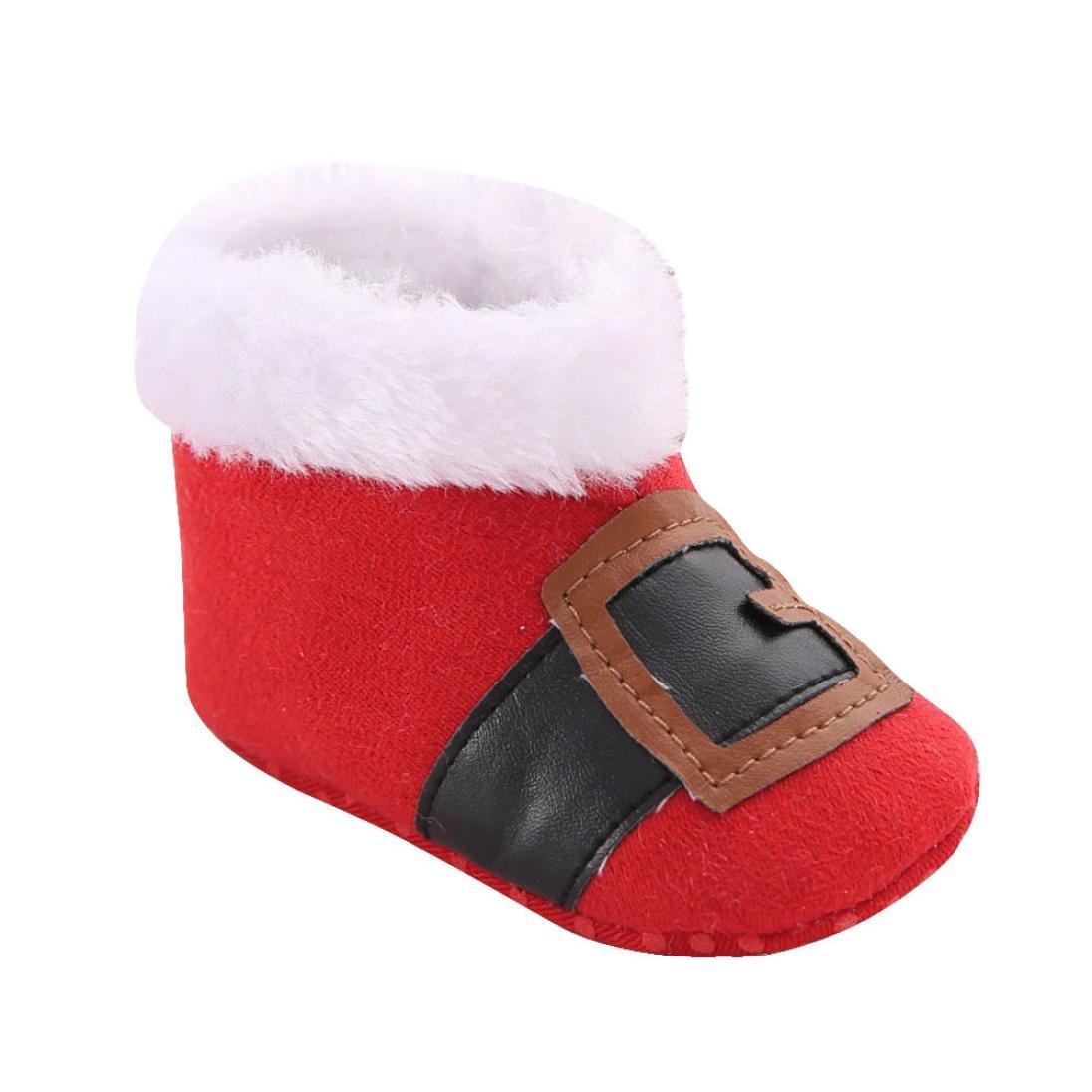 Fulltime® Bébé Tout Chaussures Bottes de Neige de Noël Douce Sole Crib Prewalker