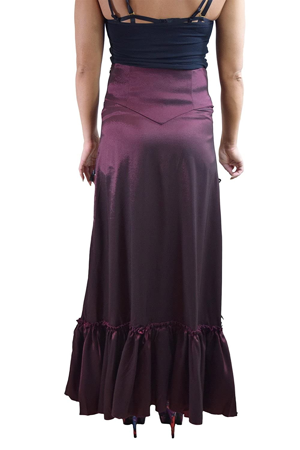 Amazon.com: Gothic Victorian Steampunk Burgundy Long Sateen 3-way Corset Skirt: Clothing