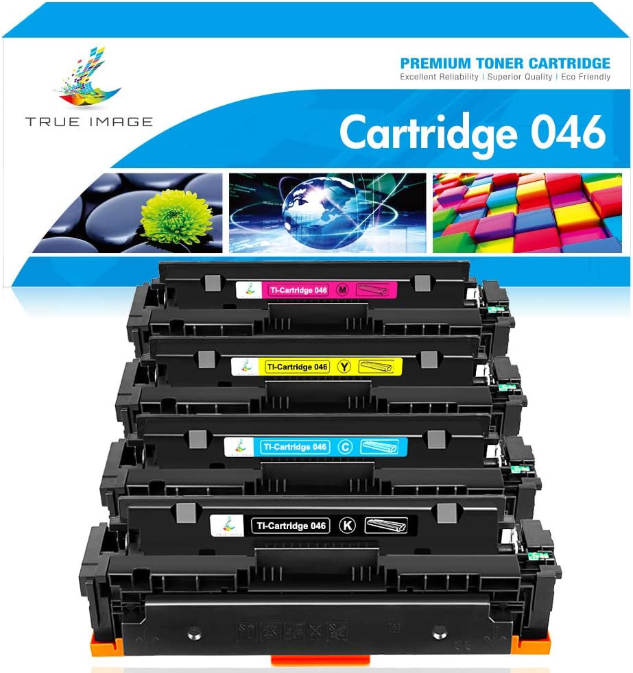 True Image Compatible Toner Cartridge Replacement for Canon 046 MF733 CRG-046 Color ImageCLASS MF733Cdw MF731Cdw MF735Cdw LBP654Cdw 046K 046C 046Y 046M Printer Ink (Black Cyan Yellow Magenta, 4-Pack)