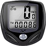 Tenswall® Ciclocomputer Wireless, Ciclocomputer, Wireless, Contachilometri per Bicicletta, Odometro digitale, 15 Funzioni