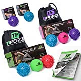 11FORCE Therapeutic Massage Ball, Physical Therapy Equipment Lacrosse & Spiky Ball, Plantar Fasciitis Treatment Tools, Myofascial Release, Acupressure, Foot Trigger Points, Set or Single, FREE EBOOK