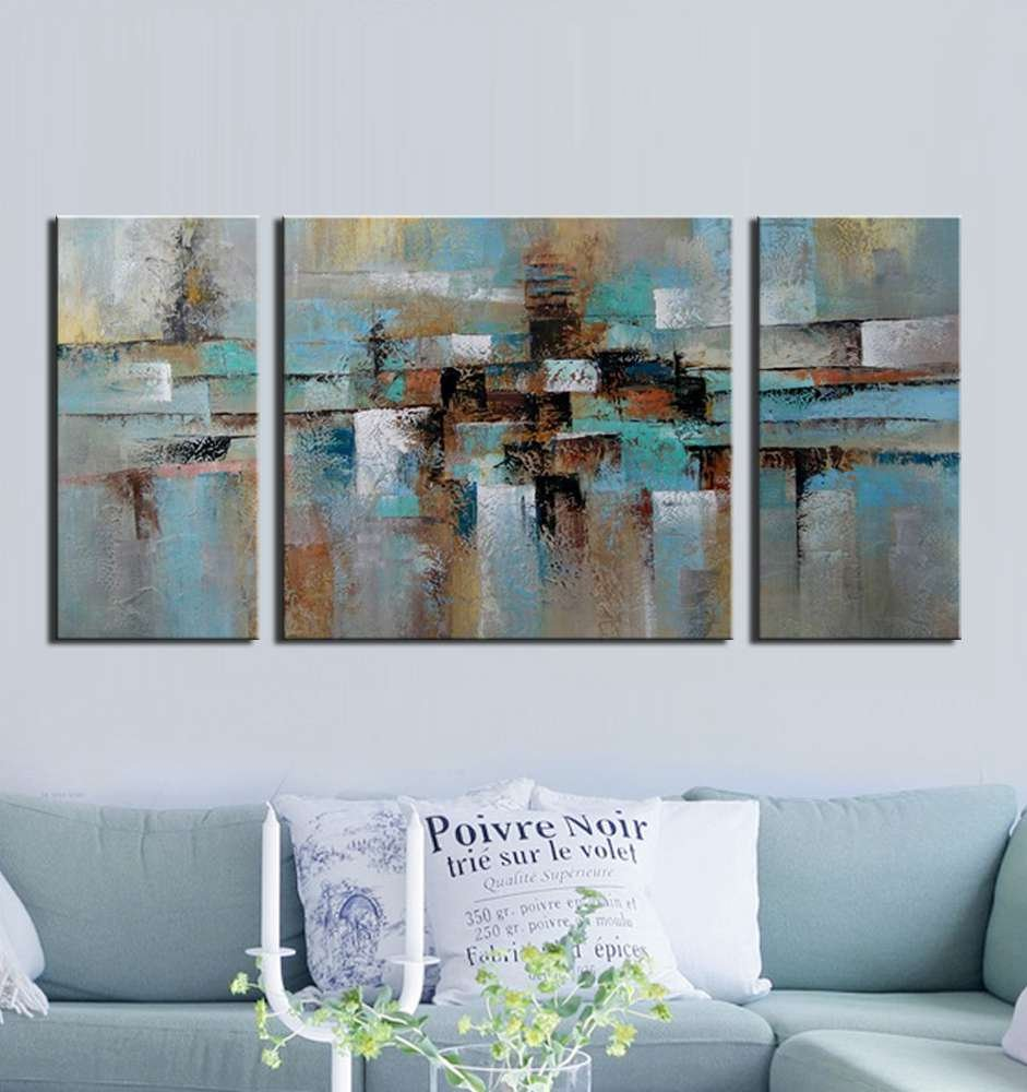 Amazon.com: ARTLAND Hand Painted Abstract Tone Oil Painting On Canvas  Gallery Wrapped Wall Art Deco Home Decoration Modern Abstract Painting On  Canvas ...