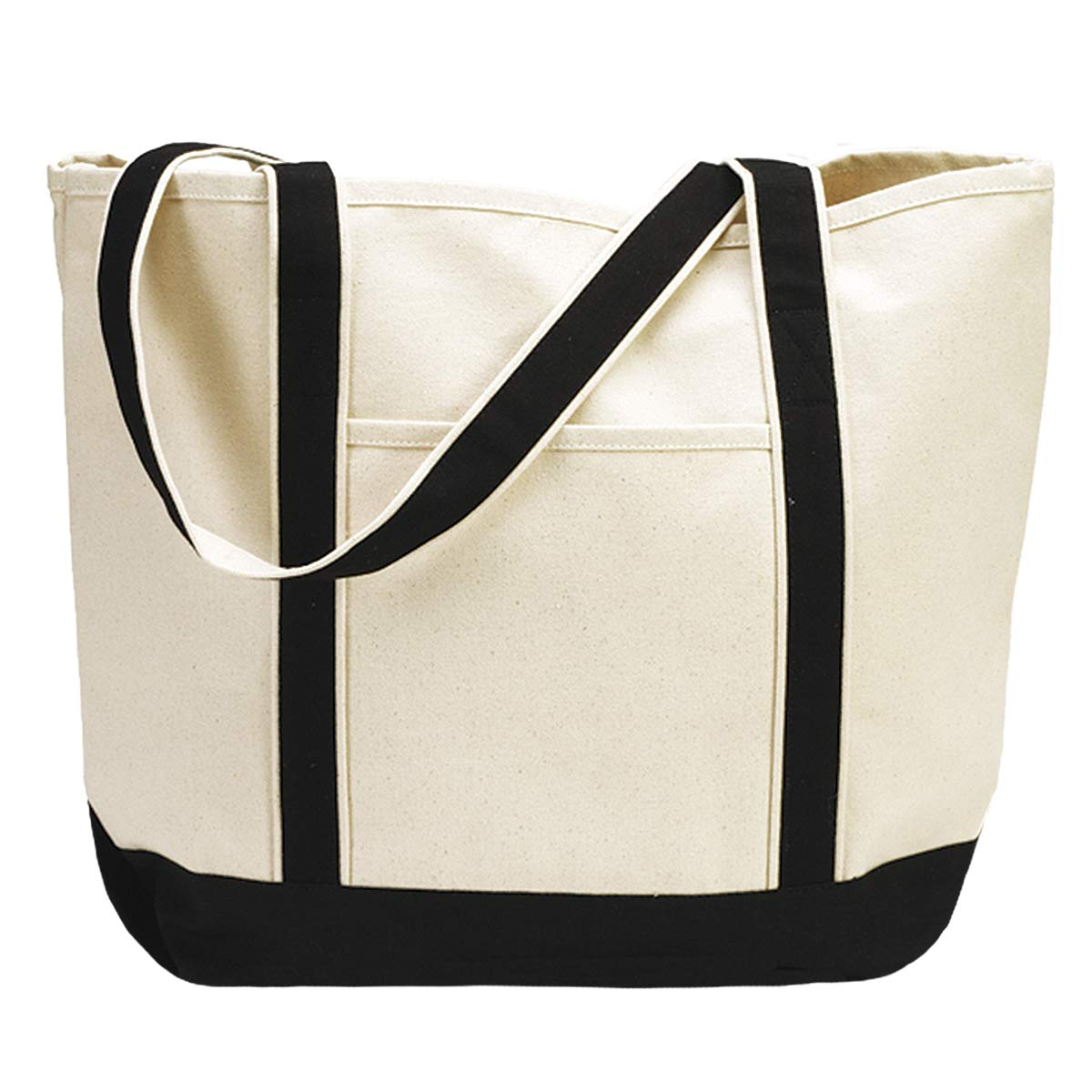 """4f213f37a Amazon.com: Heavy Duty Large Canvas Tote Bag 22"""" Shoulder Beach and  Shopping Bag for Groceries or to Decorate: Shoes"""