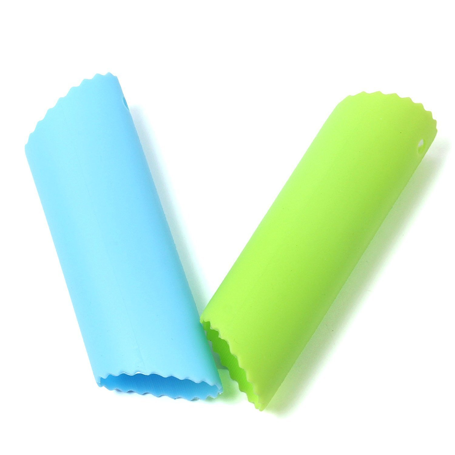 Ginsco 2pcs Silicone Garlic Peeler Tube Peel Easy Useful Kitchen Tools (Green+Blue) tyry