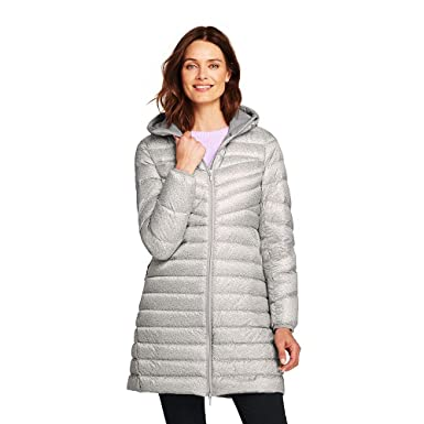7ff02a8b48c Lands  End Women s Ultralight Packable Long Down Coat at Amazon Women s  Coats Shop