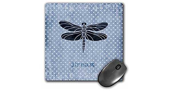 3dRose Vintage Blue Dragonfly mp/_108739/_1 8 by 8 Mouse Pad