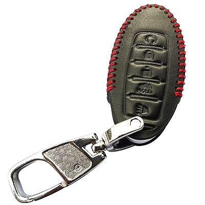 Coolbestda Leather 5Buttons Key Fob Cover Case Keyless Jacket Protector for 2020 2020 Nissan Armada Murano Rogue Maxima Altima Sedan Pathfinder KR5S180144014 Infiniti g35 qx56 q50 qx60 qx80 q60 qx30: Automotive