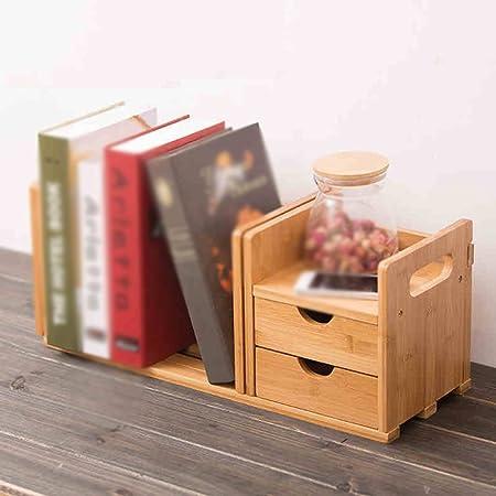 Home Shelves CYJZ® sobre La Mesa Escritorio De Bambú Estanterías ...