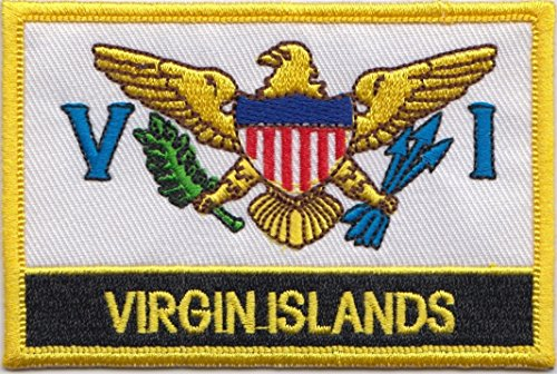 US Virgin Islands Country Flag Embroidered Blazer Badge Patch (Virgin Island Flag Patch)