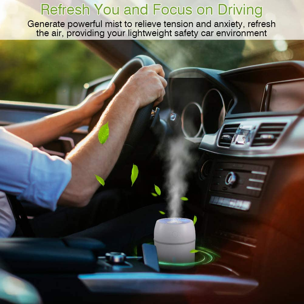 Ultrasonic Air Humidifiers with 9 Colors LED Night Light Office Car Travel Haofy 280ml Cool Mist Humidifier Yoga USB Car Diffuser Humidifier Bedroom 30ml // h Automatic Shut Down for Home