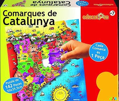 Jac Puzzle COMARQUES DE Catalunya 142 Peces: Amazon.es: Juguetes y ...