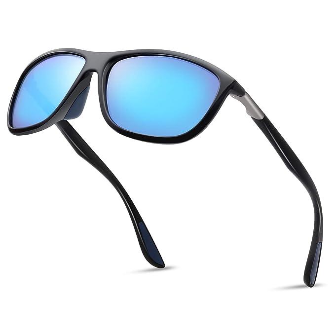 0171249a9409 Rectangular Sports Fashion Polarized Sunglasses - KANASTAL Durable  Lightweight Sun glasses for Men and Women KU1907