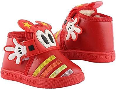 Sneakers for boys red leather casual