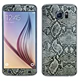 Decalrus - Samsung Galaxy S6 (Note: NOT Edge version) Silver Python skin pattern Texture skin skins decal for case cover wrap PYgalxyS6Black