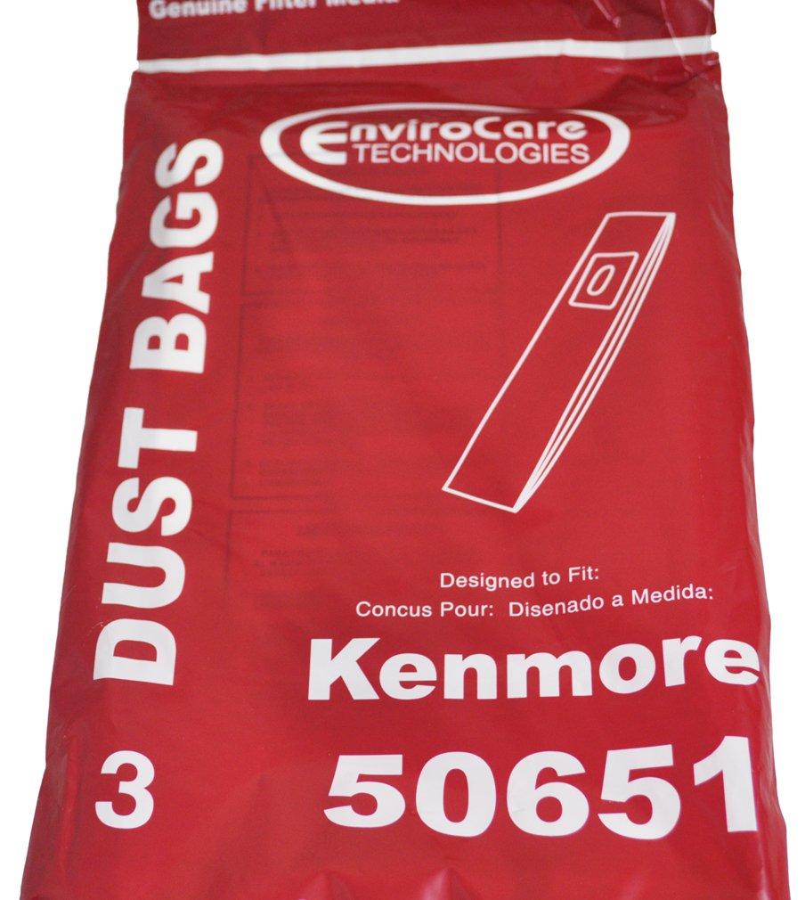 Kenmore 50651 Upright Vacuum Bags, 3 Per pack
