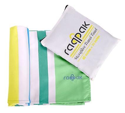 Microfiber Towel Set Antibacterial Camping Travel Sports Beach Backpacking Work