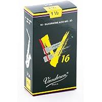 Vandoren SR7015 - Caja de 10 cañas v16 n.1.5 para saxofón alto
