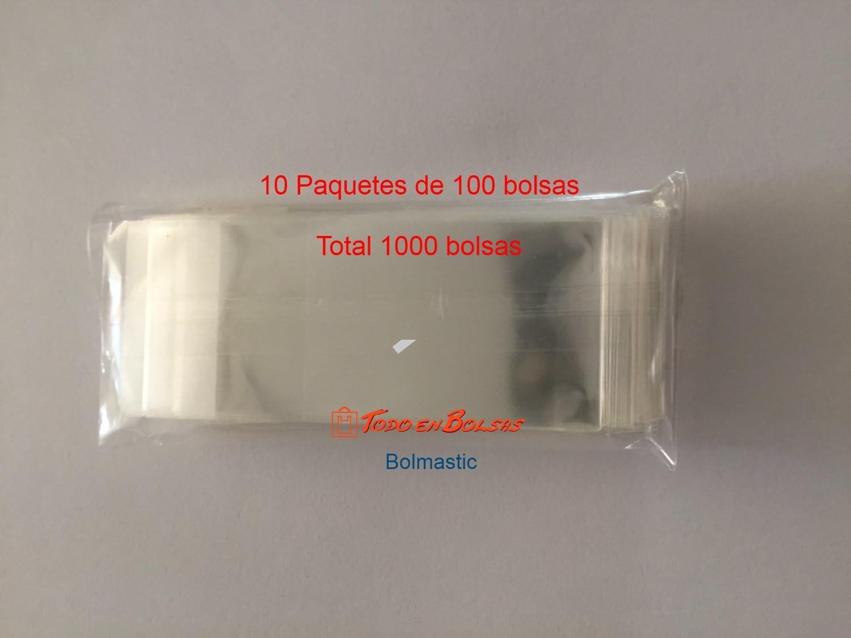 100 Unidades Bolsa Polipropileno con Solapa Adhesiva de 5,5 x 5,5 cm