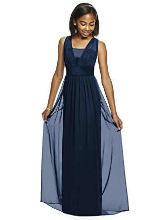 Amazon.com: Alivedre Navy Blue Chiffon Junior