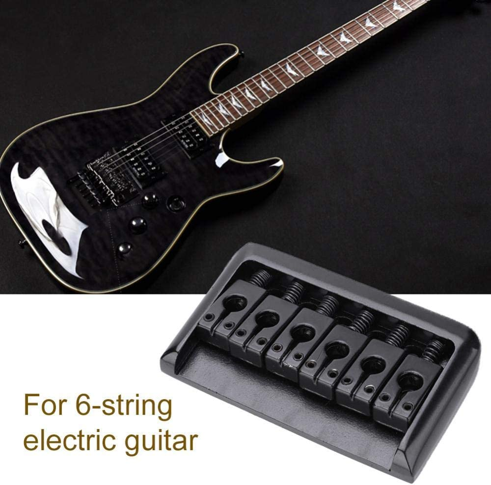Silver Electric Guitar Bridge Metal Guitar Hardtail Fixed Bridge Saddle for 6-String Electric Guitar