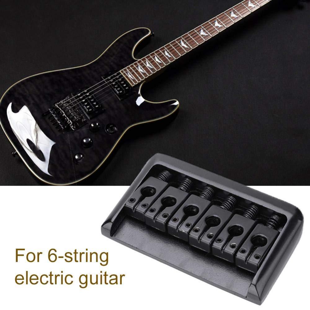 Dilwe Puente de Guitarra, Metal 6 Cuerdas Fixed Hardtail Guitarra Puente Saddle con 4Pcs Tornillos para Guitarra Eléctrica(Negro): Amazon.es: Deportes y ...