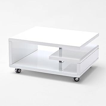 Moebella Couchtisch weiß Hochglanz Kira 74x60cm Designer ...