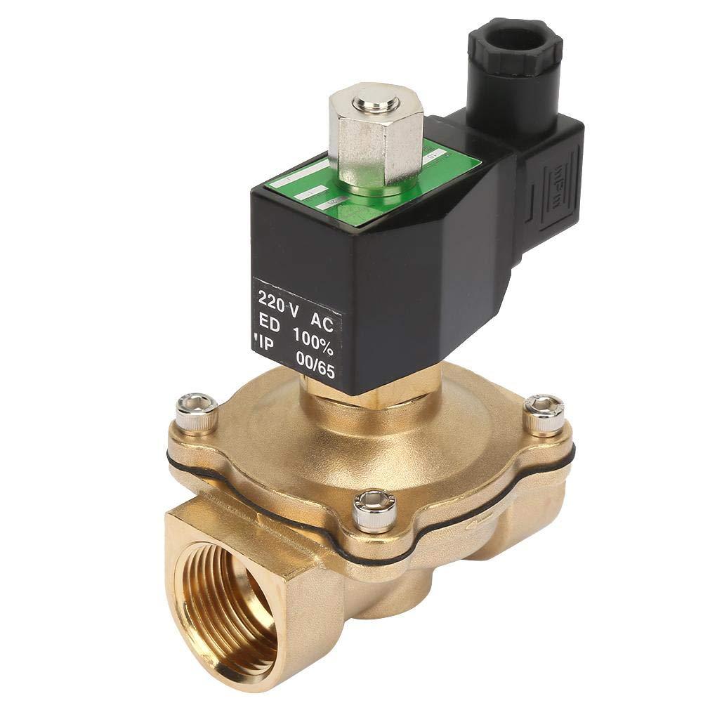 Fluid Controller G1 Electric Solenoid Valve DN25 NC Brass Electromagnetic Valve Electric Solenoid Valve AC220V- 1