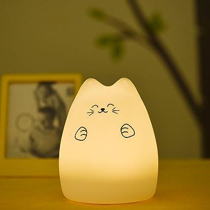 hihigou - Lámpara de mesa LED de noche para bebé, regulable ...