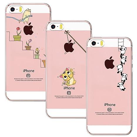 9bace6898bd9fa Yoowei 3-Pack iPhone SE Case,iPhone 5S Case,iPhone 5: Amazon.co.uk ...