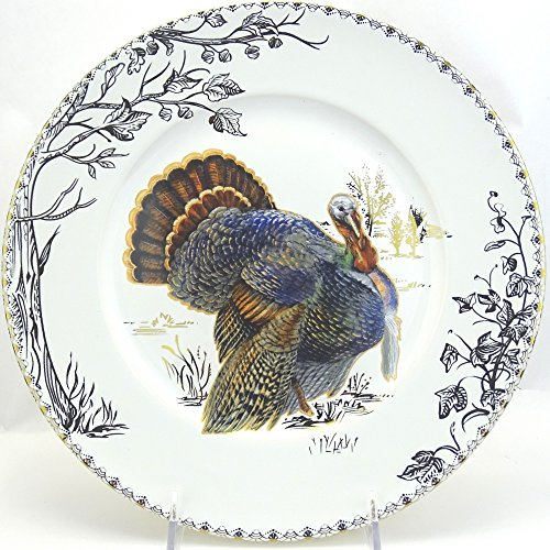 222 Fifth Golden Hill Thanksgiving Turkey Dinner Plates 10.5