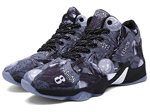ef5162e94f22 YVWTUC Men s Youth Breathable Boots Basketball Shoes Non-Slip Practical  Shoes  Amazon.co.uk  Shoes   Bags