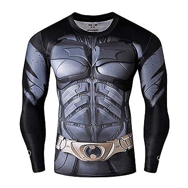 df4fb557901f21 Amazon.com  Superhero Compression T-Shirts - Men s Crew Neck Gym ...