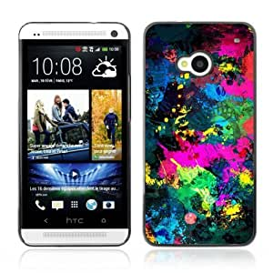 YOYOSHOP [Cool Abstract Color Splash] HTC One M7 Case