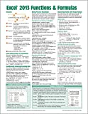 Microsoft Excel 2013 Functions & Formulas Quick Reference Card (4-page Cheat Sheet focusing on examples and context for intermediate-to-advanced functions and formulas- Laminated Guide)
