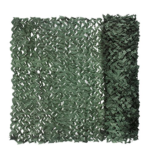 Camouflage Netting, Iunio 32.8ft x 5ft / 10m x 1.5m Custom Dark Green Camo Net Great For Sunshade Camping Shooting Hunting - Green Camouflage