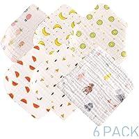 MEOWA 6 piezas Muselinas Organicas para Bebé Toalla