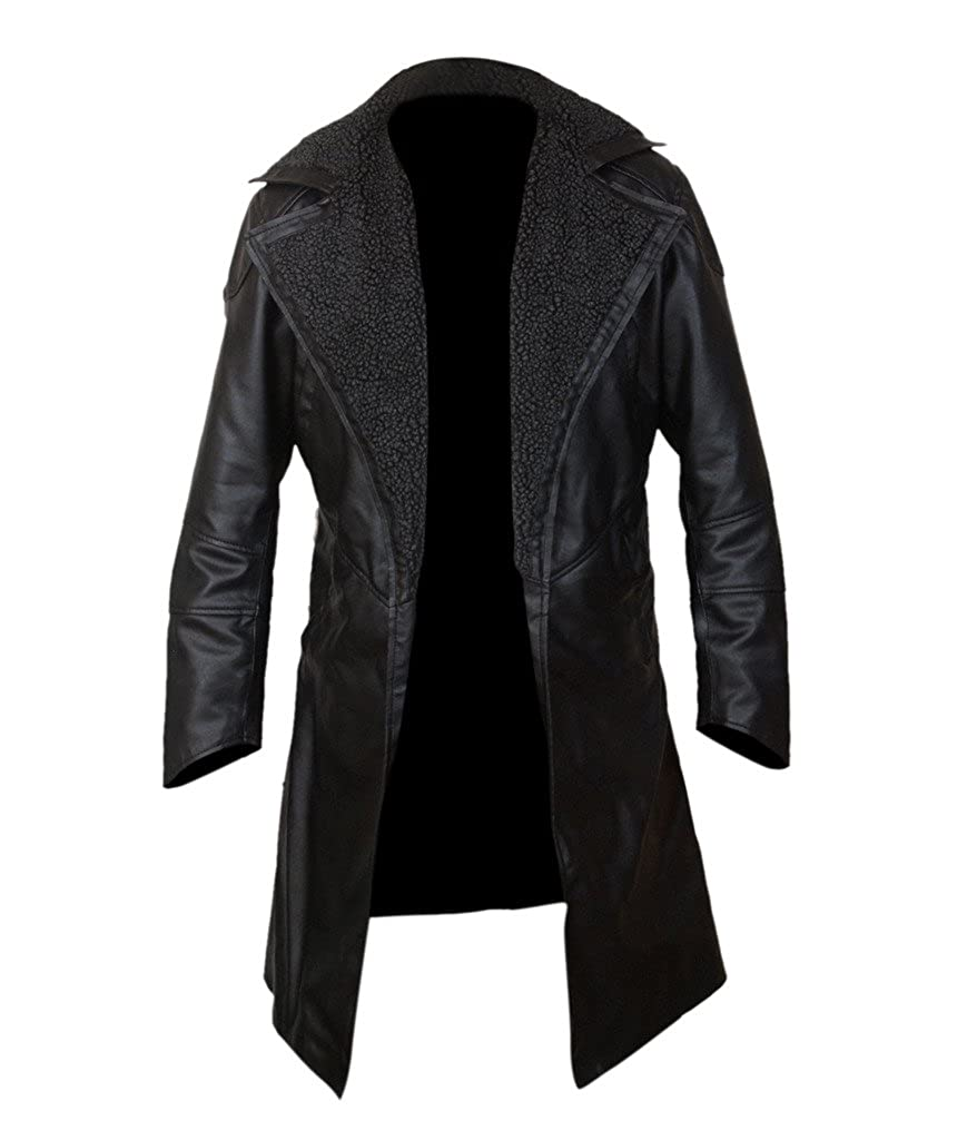 Amazon.com: F&H Mens Blade Runner 2049 Faux Fur Lined Open Front Coat: Clothing
