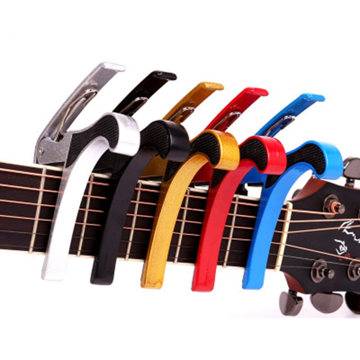 5 Colors Aluminium Alloy Capo Tuning Clutch-type Folder Ukulele Folk Guitar Ukulele Diacritical Clip Capo Guitar Tuner