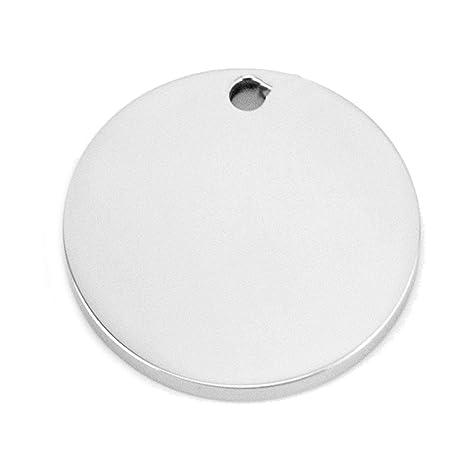 Abalorio de disco de acero inoxidable con agujero interior ...