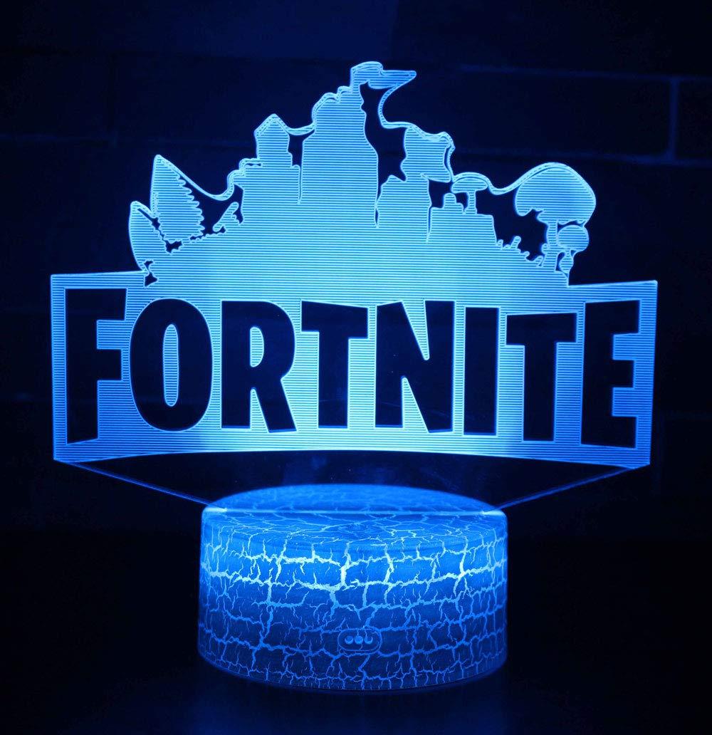 Fortnite 3D Lámpara de Escritorio Win-Y LED 7 del tacto del ...