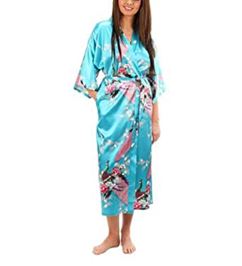 56fc3e783a ... Satin Robes for Brides Robe Sleepwear Silk Pijama Casual Bathrobe  Animal Rayon Long Nightgown