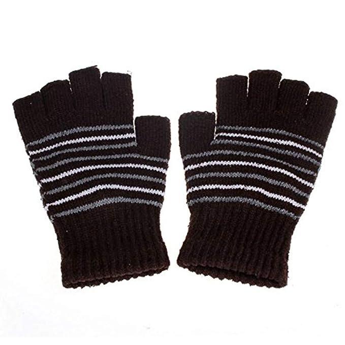Likecrazy gestrickte Handschuhe 5V USB Powered Heizung Beheizte Winter Handw/ärmer Handschuhe Strick Fingerlose Armstulpen Damen M/ädchen Handschuhe